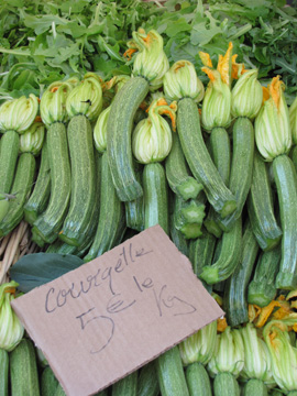 zucchinileft Cooking in Nice:  Les Petits Farcis, Part One  The Market Tour